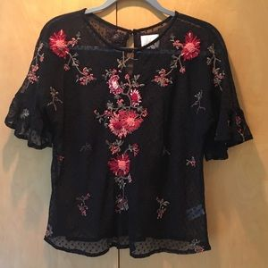 Anthropologie Lace Bolero Top